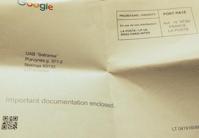 Google atvirukas su patvirtinimo kodu