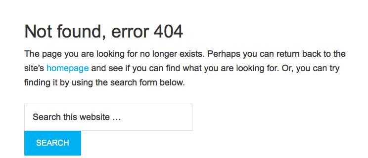Puslapis nerastas - 404 klaida