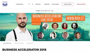 Business Accelerator 2018. Pranešimas, kurį vertėjo daryti…(PDF skaidrės pridedamos)