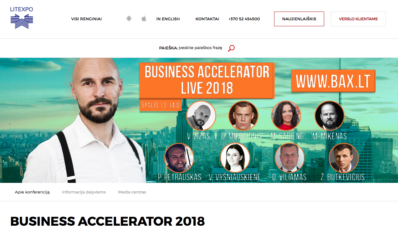 Business Accelerator 2018 Litexpo