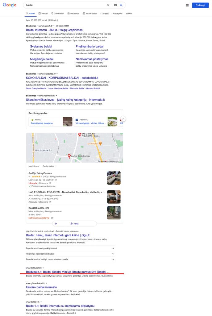 baldai - google.lt 2 vieta 2021.02.15